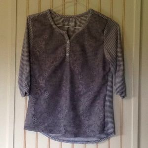 Canyon River Blues Gray Shirt with Lace Front
